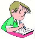 Petit garçon qui écrit